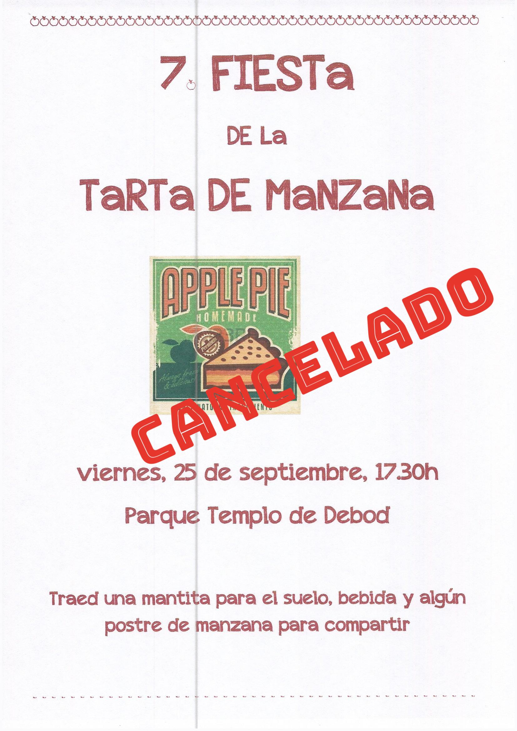 Fiesta de la manzana cancelada